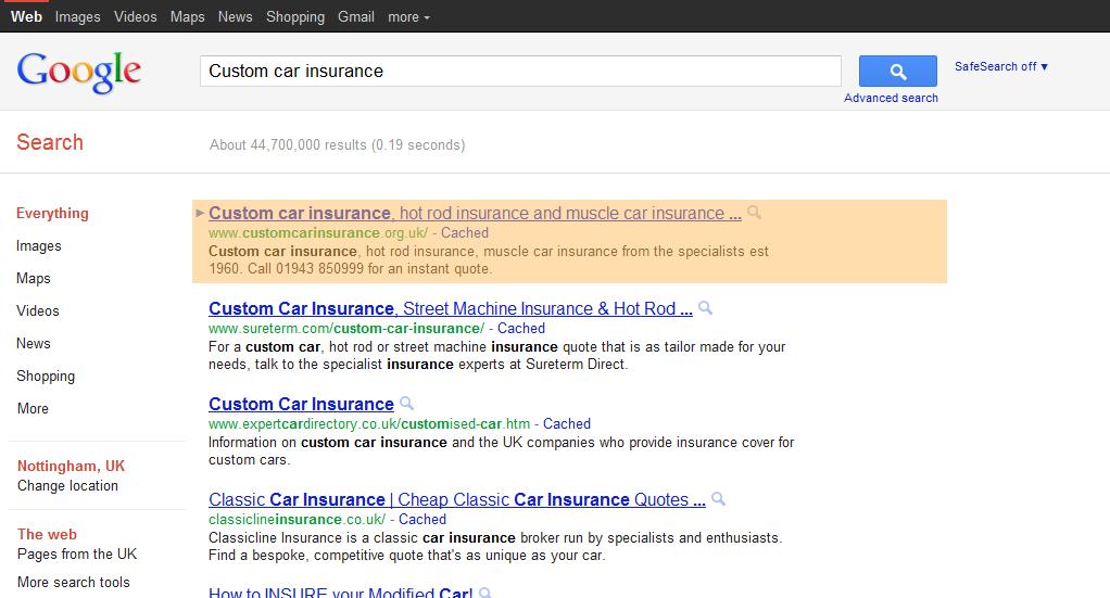 Custom auto insurance / Car insurance in okc